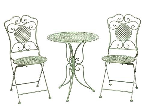 Mobili da giardino set giardino tavolo e 2 sedie in ferro antico stile verde francescosarcina - Mobili da giardino in ferro ...
