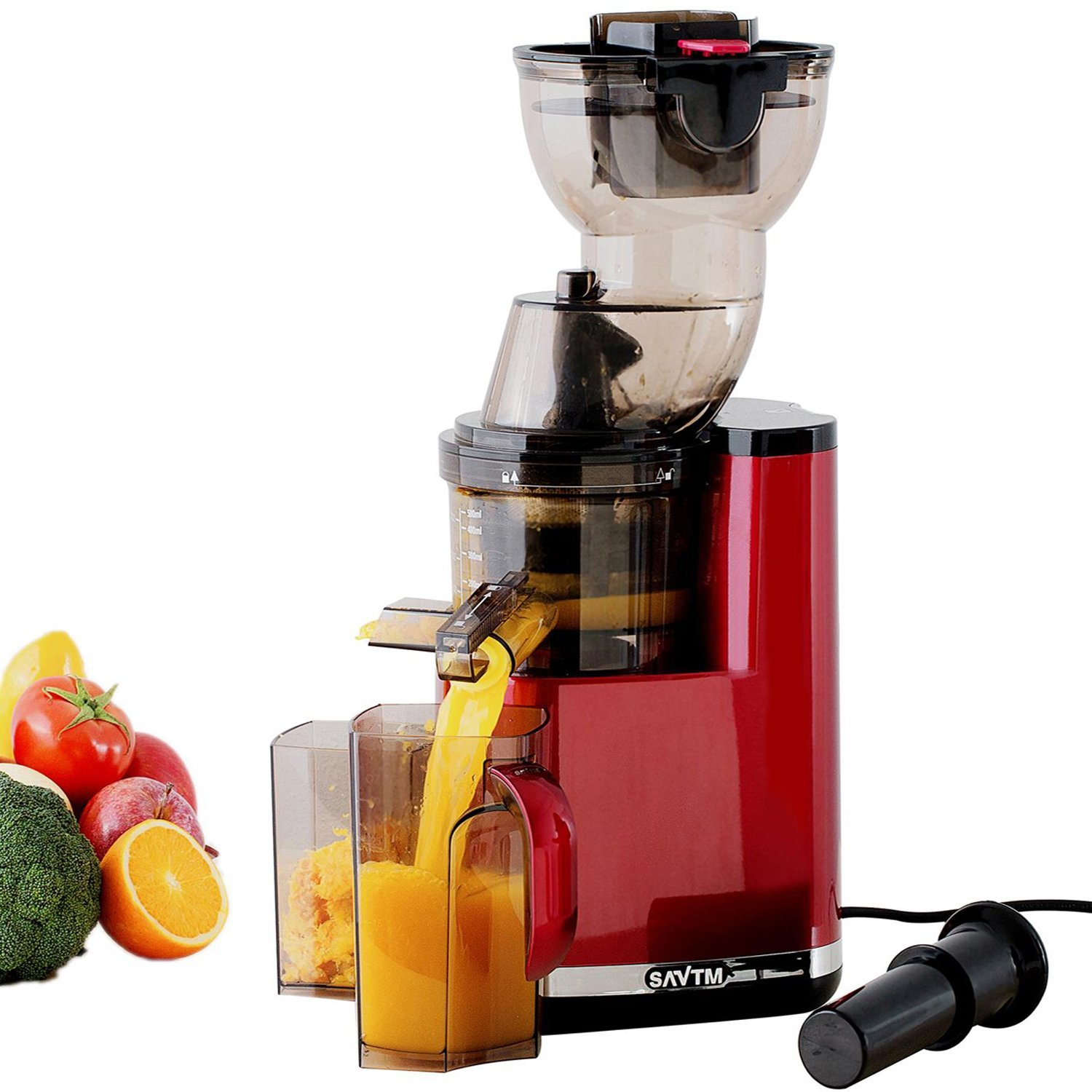SAvTM Electric Masticating Wide Mouth Whole Chute Anti-Oxidative Fruit Juicer eBay