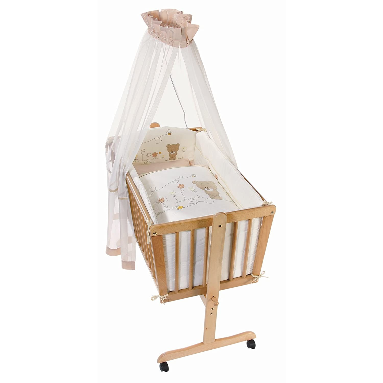 Easy Baby Wiege Komplettset weiß, Honey bear 182-79