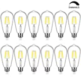 Edison Bulb, Dimmable Vintage LED Filament Light Bulbs Daylight White 5000K, SHINE HAI 4W ST64 Antique LED Squirrel Cage Lights 40W Equivalent, E26 Base, Pack of 12 (Color: 5000k, Tamaño: Dimmable ST64)