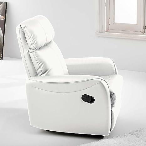 Sillón relax sistema pared cero modelo SLIM color blanco – Sedutahome