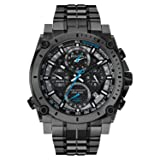 Bulova Men's 98B229 Precisionist Analog Display Japanese Quartz Grey Watch (Color: Black)