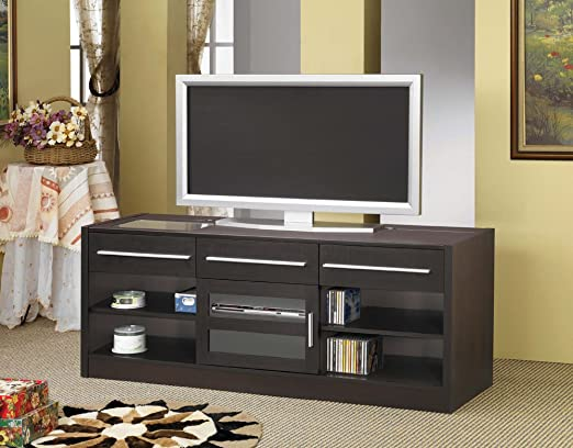 Coaster Home Furnishings 700650 Contemporary TV Console, Cappuccino