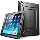 iPad 2 Case, SUPCASE Apple iPad Case [Unicorn Beetle PRO Series] Full-Body Rugged Hybrid Protective Case Cover with Built-in Screen Protector for The New iPad 2 (2nd Generation) (Black/Black) (Color: Black/Black)