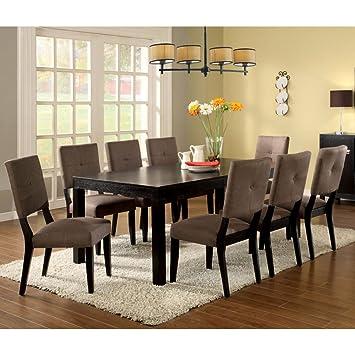 Furniture of America Jones 7 Piece Dining Set - Espresso