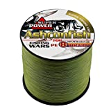 Ashconfish Braided Fishing Line-8 Strands Super Strong Fishing Wire 500M/546Yards 30LB-Abrasion Resistant Braided Lines-Incredible Superline-Zero Stretch-Superfine Diameter-Army Green (Color: Army Green, Tamaño: 30LB/0.26MM)