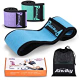 ANKIVY Booty Bands Fabric Resistance Bands for Legs and Butt Exercise Elastic Hip Bands 2019 Upgraded (Blue Green Purple) (Color: Blue Green Purple)