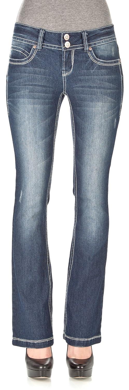 WallFlower Juniors Luscious Curvy Basic Bootcut Jeans zippered bootcut jeans