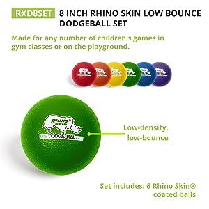 Champion Sports Rhino Skin Dodgeballs: 8 Inch Balls for