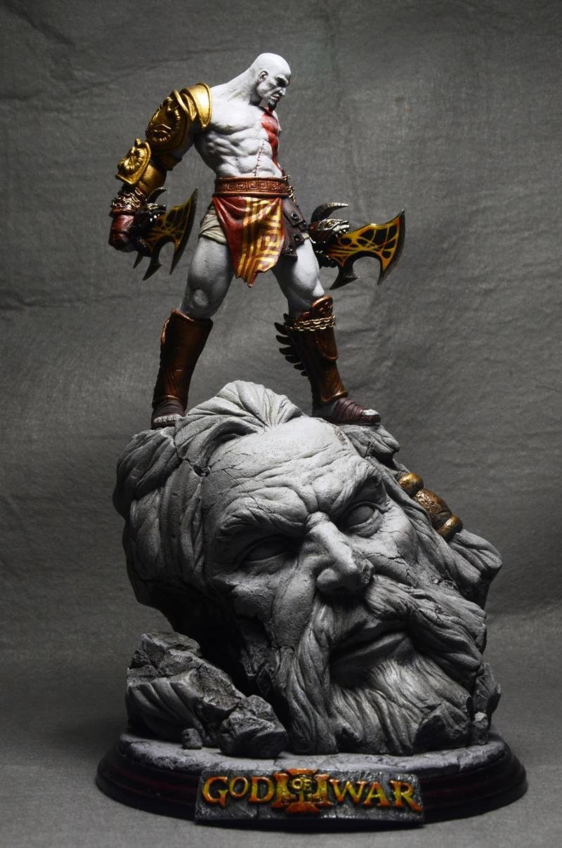 Kratos War God Statue