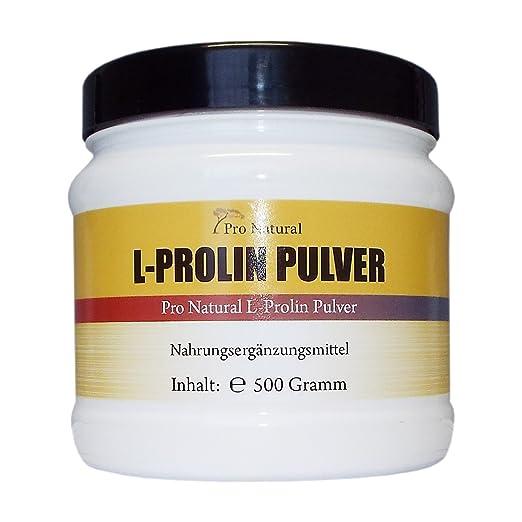 L-Prolin 500g , 100% reines Pulver ( von der Menge wie 1000 L-Proline 500mg Kapseln )