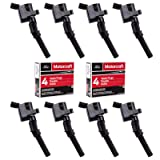 Ignition Coil DG508 & Motorcraft Spark Plug SP479 for Ford 4.6L 5.4L V8 CROWN VICTORIA EXPEDITION F-150 F-250 MUSTANG LINCOLN MERCURY EXPLORER DG508 DG457 DG472 DG491 F523 DG508 (Set of 8 BLACK) (Tamaño: Set of 8 BLACK)