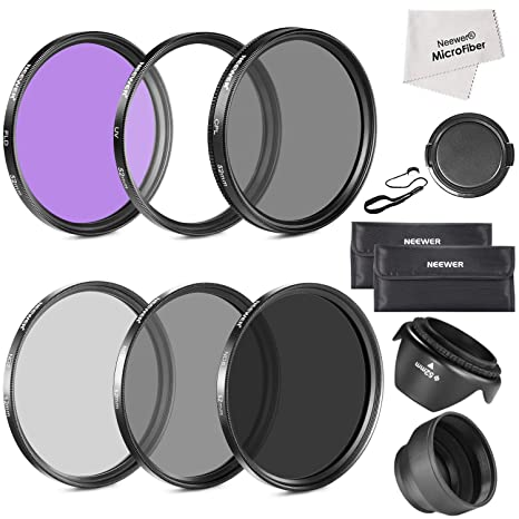 Neewer 52MM Must Have Lens Filter Accessory Kit for NIKON D7100 D7000 D5200 D5100 D5000 D3300 D3200 D3100 D3000 D90 D80 DSLR Cameras- Includes: 52MM Filter Kit (UV, CPL, FLD) + ND Neutral Density Filt at amazon