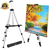 Tripod Display Easel, Aluminum Art Easel, Versatile Display Stand, Adjustable Height from 21