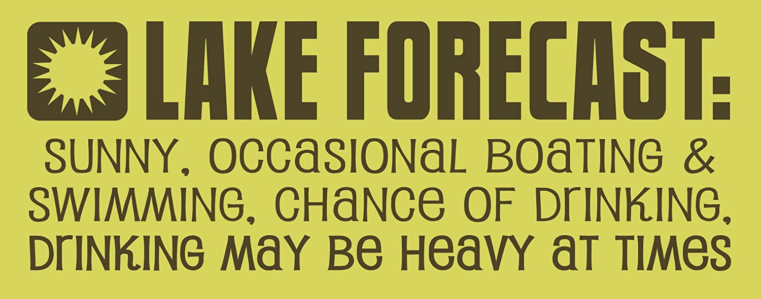 My Word 4 x 10-Inch Rope Sign, Lake Forecast – Decorative Signs