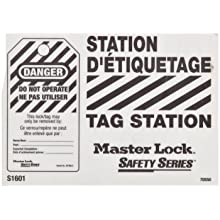 Master Lock Lockout Tag Holder, Unfilled