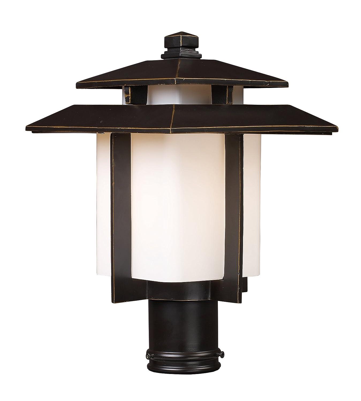 elk 421731 kanso 1 light outdoor pier mount in hazelnut. Black Bedroom Furniture Sets. Home Design Ideas
