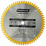 Overpeak 10 Inch Circular Saw Blade Fine Finish 60 Tooth Carbide Table Saw Blades with 5/8-Inch Arbor (Color: Multi, Tamaño: 10 Inch 60 Tooth)