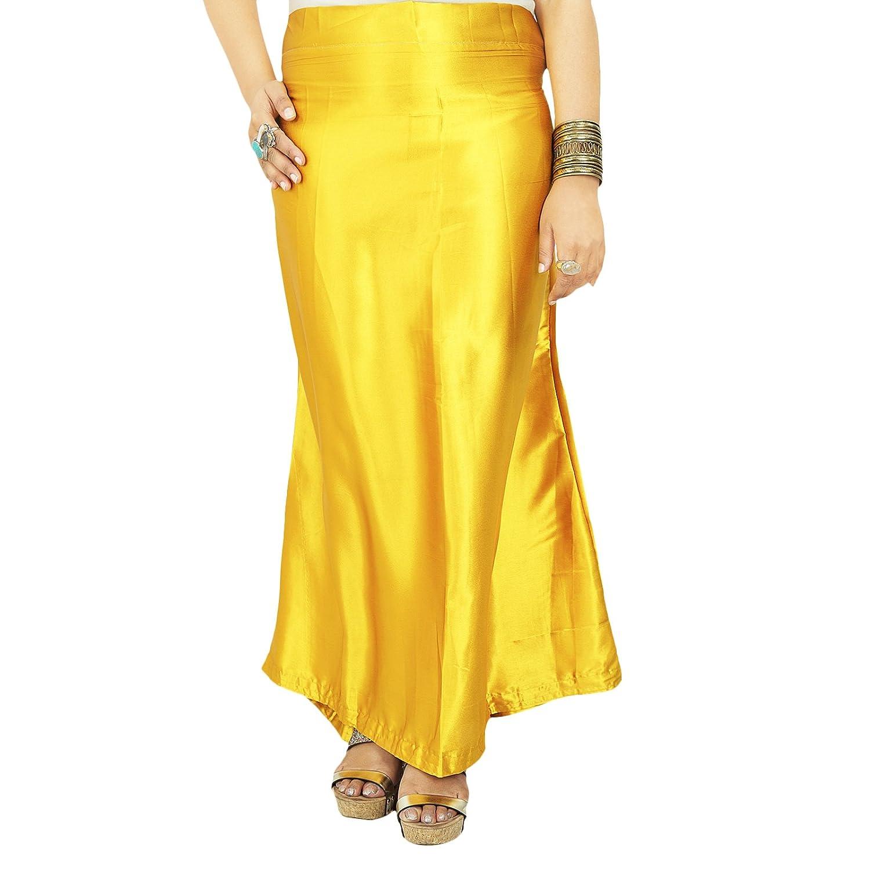 Indian Silk Satin Petticoat Bollywood Solide Inskirt Futter für Sari jetzt kaufen