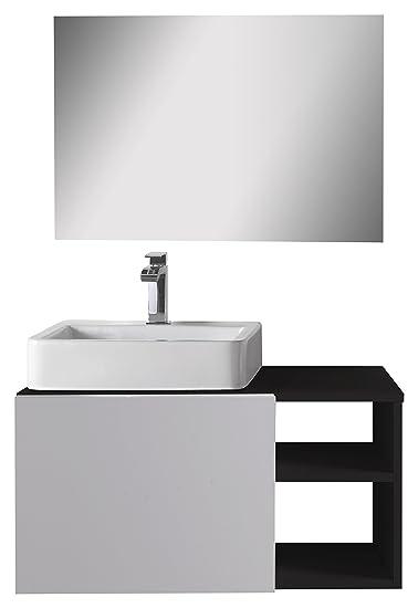 aleghe Fun-Bathroom Cabinet-Black Gloss