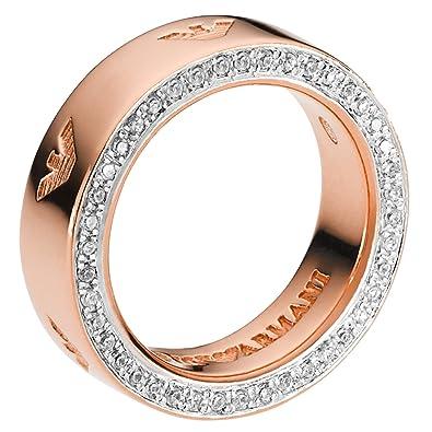 Armani Women 9 k (375) Silver Zircon Rings