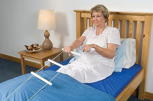 bed rope ladder helper rails rising aids adjustable assist positioning medical ebay. Black Bedroom Furniture Sets. Home Design Ideas