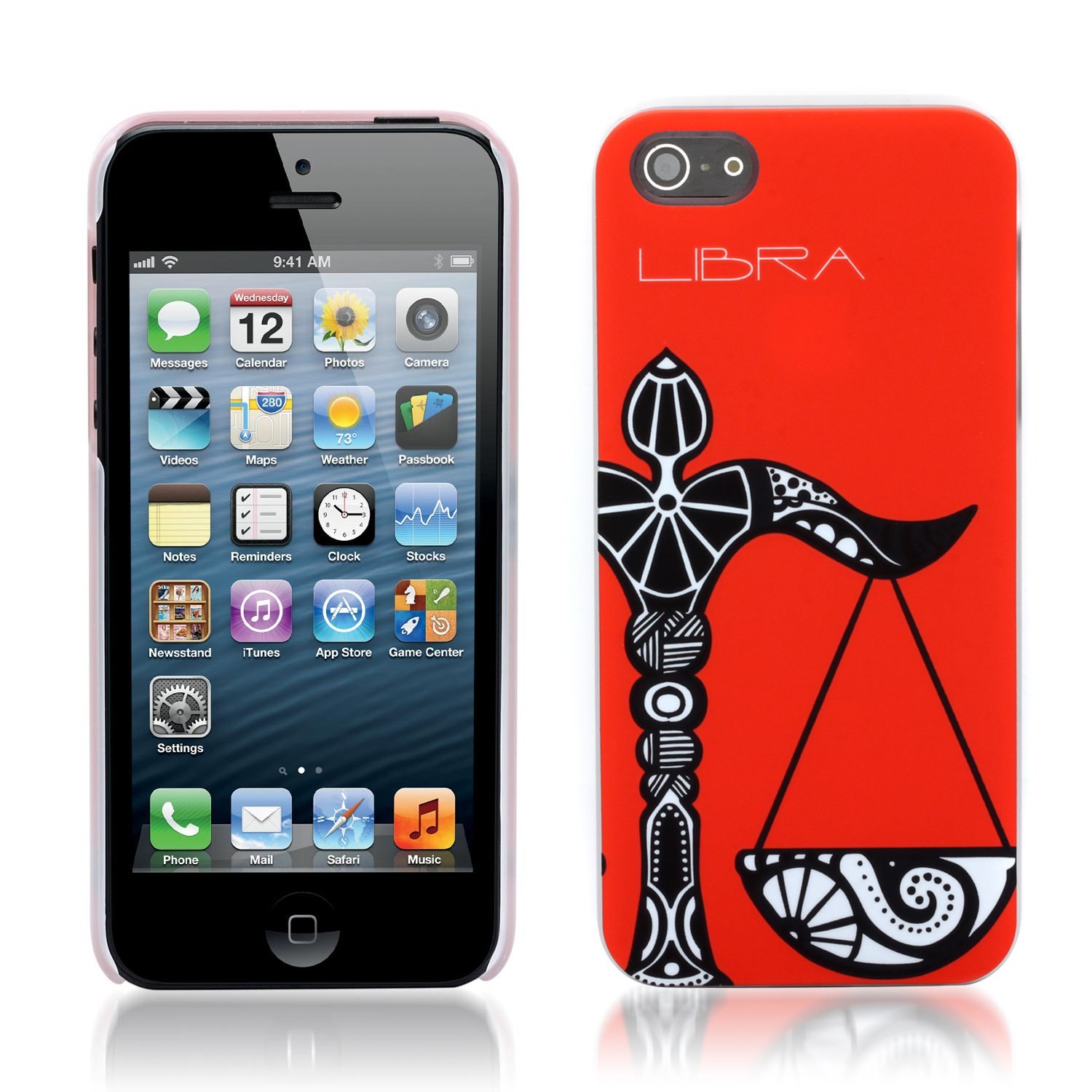 Aduro HOROSCOPE Snap-on Hard Case Cover for Apple iPhone 5 (Libra)