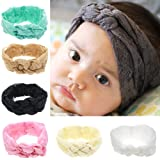 Defitck Baby Girls Headbands set Newest Turban Head Wrap Knotted Hair Band Baby Hair Accessorie (ted003-7PCS ) OS Multi-Color (Color: Ted003-7pcs, Tamaño: 19*7cm)