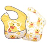 Bumkins Disney Baby Waterproof SuperBib 2 Pack, Winnie the Pooh (Hunny) (6-24 Months) (Color: Winnie The Pooh, Tamaño: 6-24 Months)