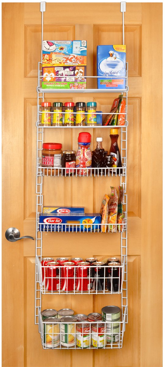 pantry organizer over the door kitchen hanging food storage rack organizer shelf. Black Bedroom Furniture Sets. Home Design Ideas