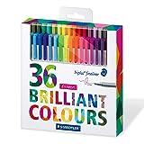 Staedtler Color Pen Set, Set of 36 Assorted Colors (Triplus Fineliner Pens) 3-PACK