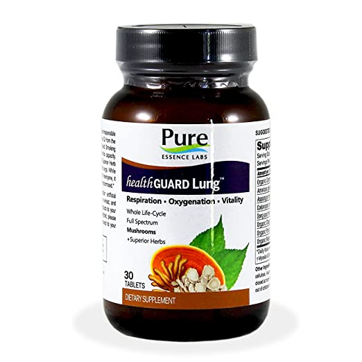 Pure Essence Labs HealthGuard Lung - Respiration - Oxygenation - Vitality - 30 Tablets
