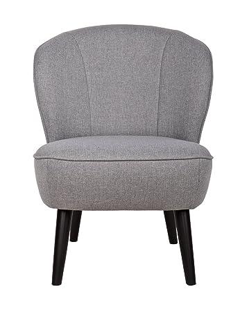 Fauteuil gris clair, H 71 x L 59 x P 70 cm - PEGANE -