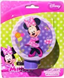 Disney Minnie Mouse Night Light Girls Room Bathroom Lights (Purple)