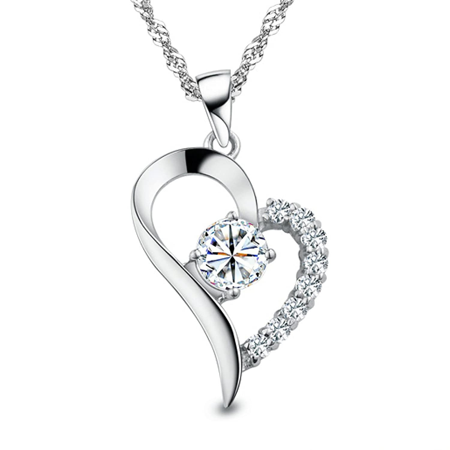 """You Are the Only One in My Heart"" Sterling Silver Pendant Necklace"