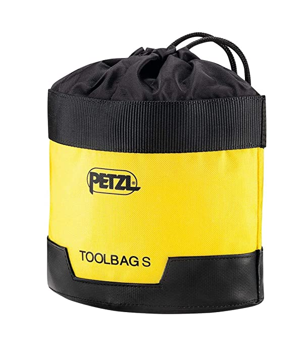 PETZL - TOOLBAG, Tool Pouch, Small (Color: Yellow/Black, Tamaño: Small)