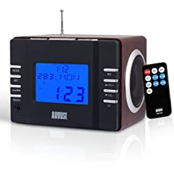 August MB300 Clock Radio with MP3 Alarm
