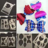 Combo 7Pc PVC Cutting Die Stencil Templates Mold-Hair Bow Cutting Die DIY-Bowknot Hair Bow Cutting Dies-Bowknot Bows Cutting Dies Stencil-Cutting Dies for Card Making-Cutting Dies for Scrapbooking