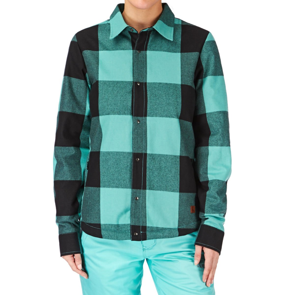 Volcom Nourish Ins Flannel Shirt - Glacier Blue