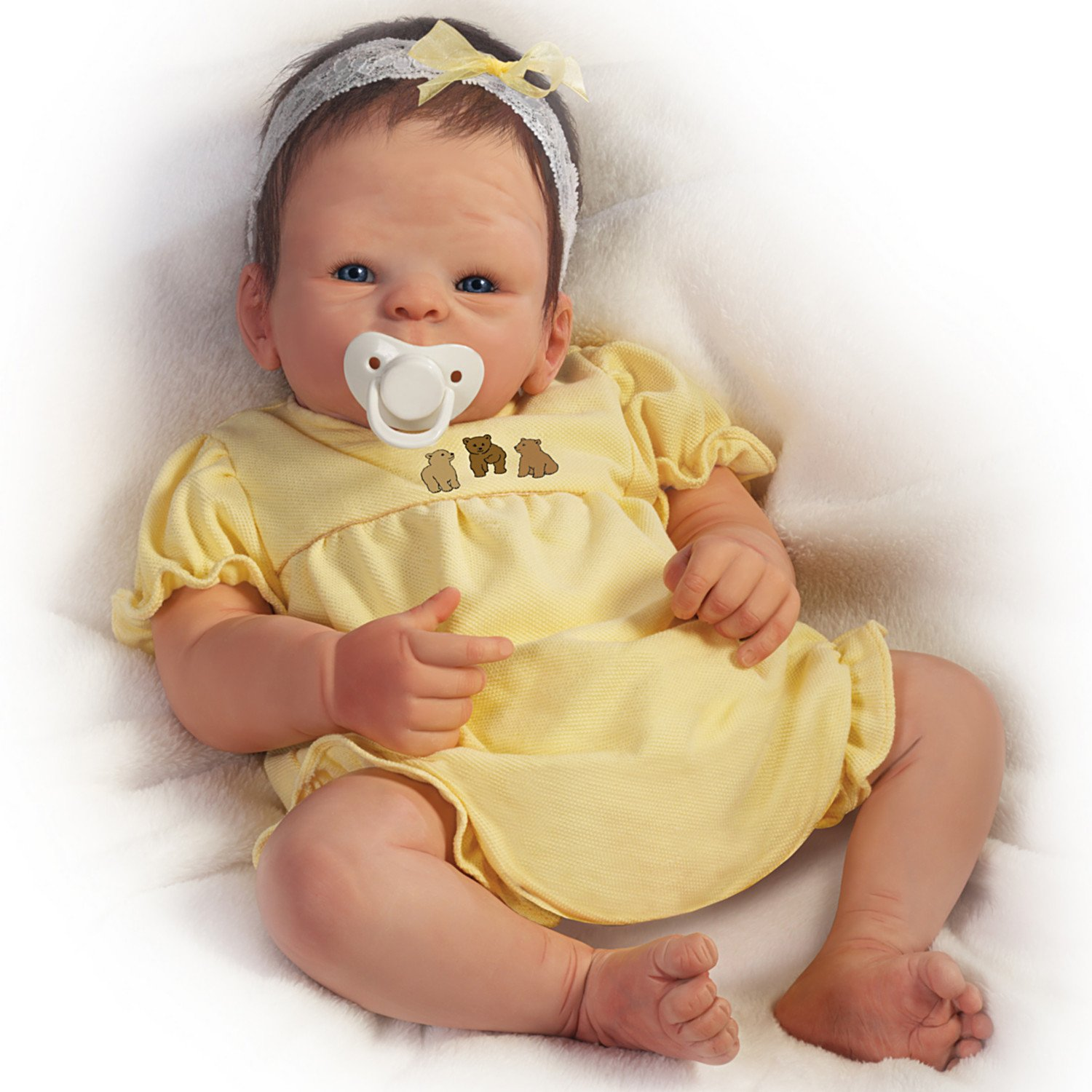 Tasha Edenholm So Truly Real Lifelike Poseable Baby Girl Doll by The Ashton-Drake Galleries realistic silicone vinyl reborn baby doll for kids gift toys lifelike sleeping babies 17inch