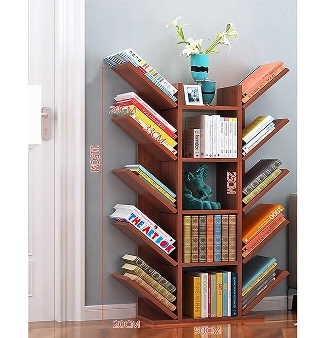 Book Jia librerie Scaffale semplice scaffali di libri di stoccaggio semplice ufficio scaffale di bambù multi-layered librerie moderne ( Colore : B , dimensioni : 52*20*115cm )