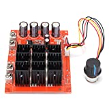 ELEGIANT DC 10-50V 60A High Power Motor Speed Controller PWM HHO RC Driver Controller Module 12V 24V 48V 3000W Extension Cord with Switch