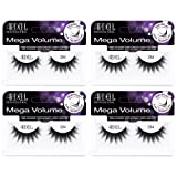 Ardell False Eyelashes Mega Volume Lash 254 (4 Pack) (Color: Black, Tamaño: Mega Volume Lash 254)