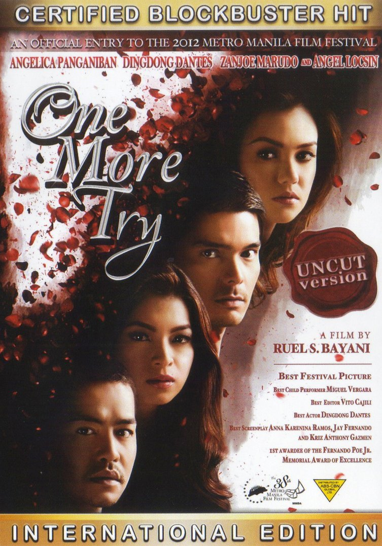 One More Try (2012) Filipino DVD - Angel Locsin, Dingodong Dantes, Angelica Panganiban