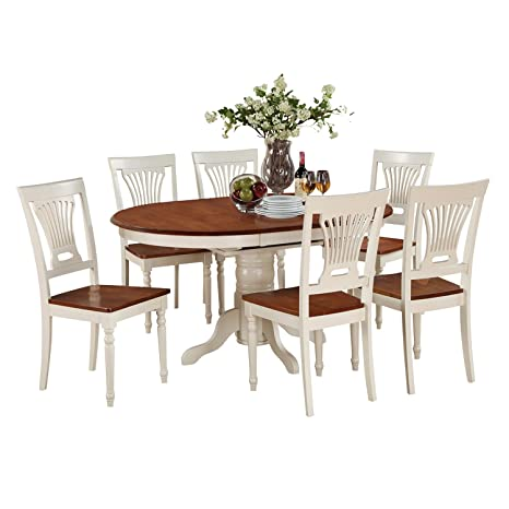 East West Furniture KEPL5-WHI-W 5-Piece Dining Table Set