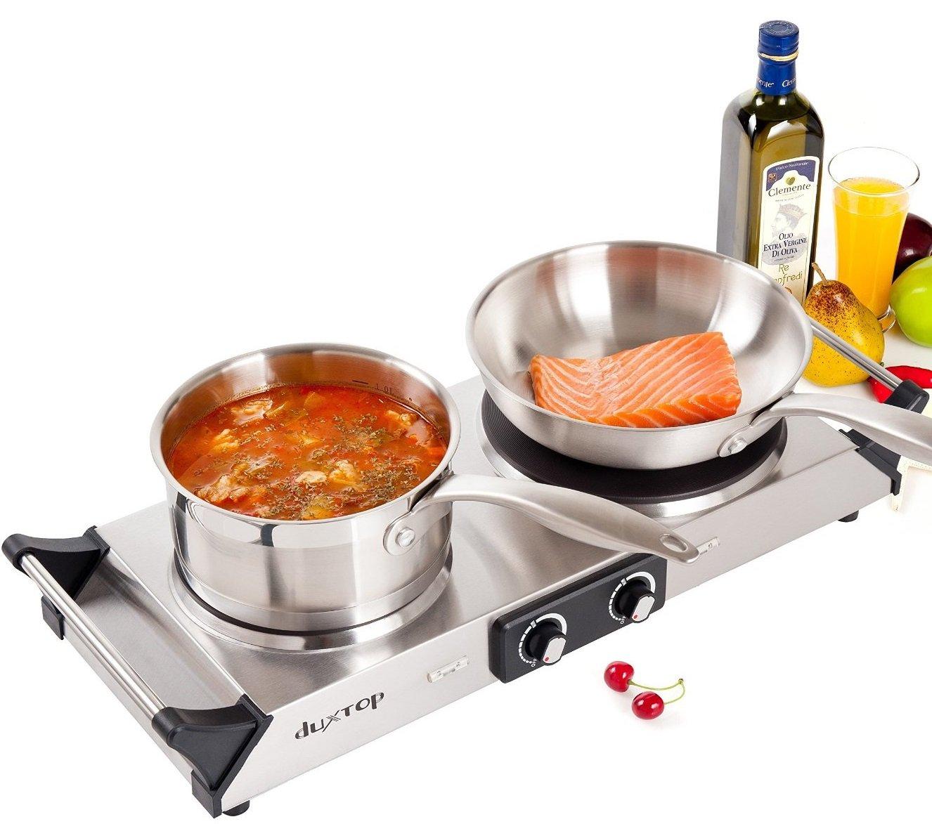 Countertop Burner Target : ... Double Burner Stainless Steel Iron Plate Countertop Cookware eBay