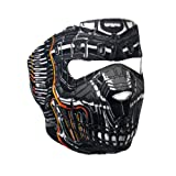 Mechanical Robo Robot Skull Neoprene Face Mask Biker Headwear Paintball Costume (Color: One Color, Tamaño: One Size)