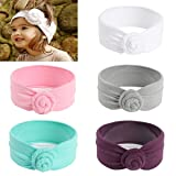 Mookiraer Baby Girl Newest Round Dot Turban Headband Head Wrap Knotted Hair Band (BK01) (Color: Bk01, Tamaño: One Size)