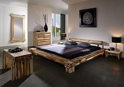 SAM® Massivholz Bett Casanova 180 x 200 cm aus massiver Akazie gewachste Oberfläche Balkenoptik