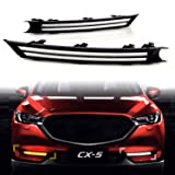 KE-KE Dual Color Double Row strip LED White DRL Daytime Running Light/Amber Dynamic Sequential Turn Signal For 2017 2018 2019 Mazda CX-5 CX5 accessories (Color: Double Row strip)
